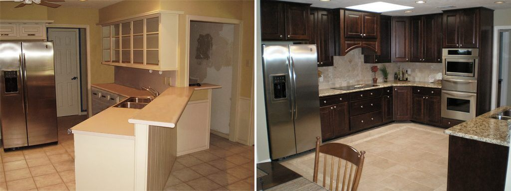 Kitchen Remodel before and after comparison