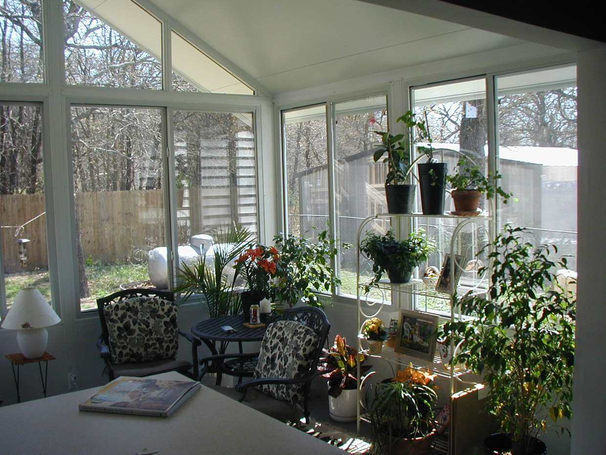 Sliding Window sunroom interior