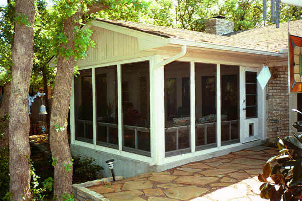 Gable roof sunroom exterior